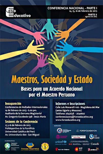 FORO EDUCATIVO – MAESTRO, SOCIEDAD Y ESTADO