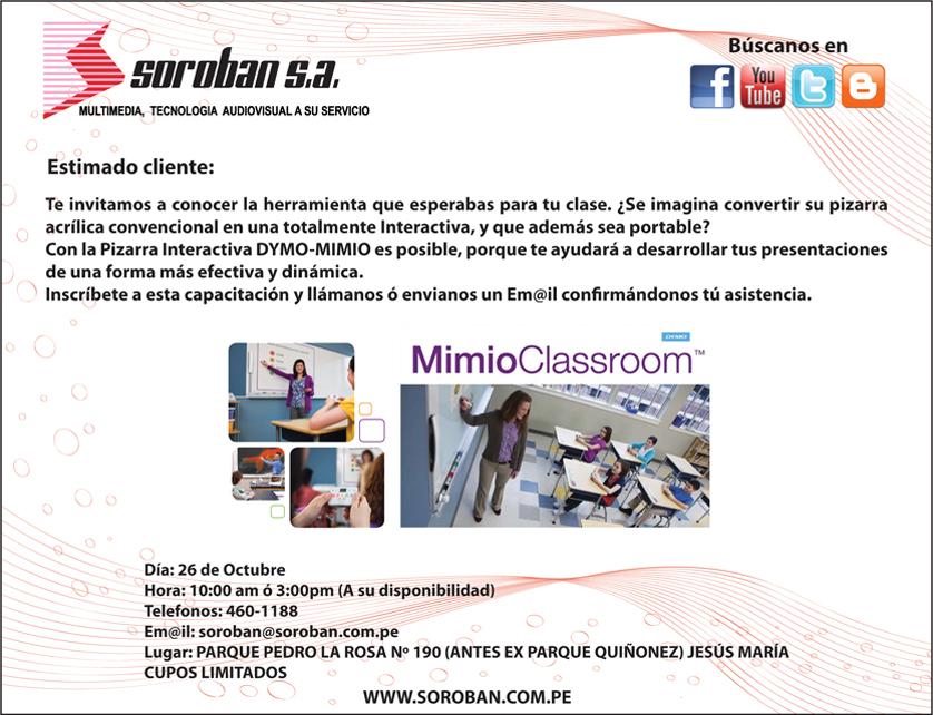 Capacitación MimioClassroom