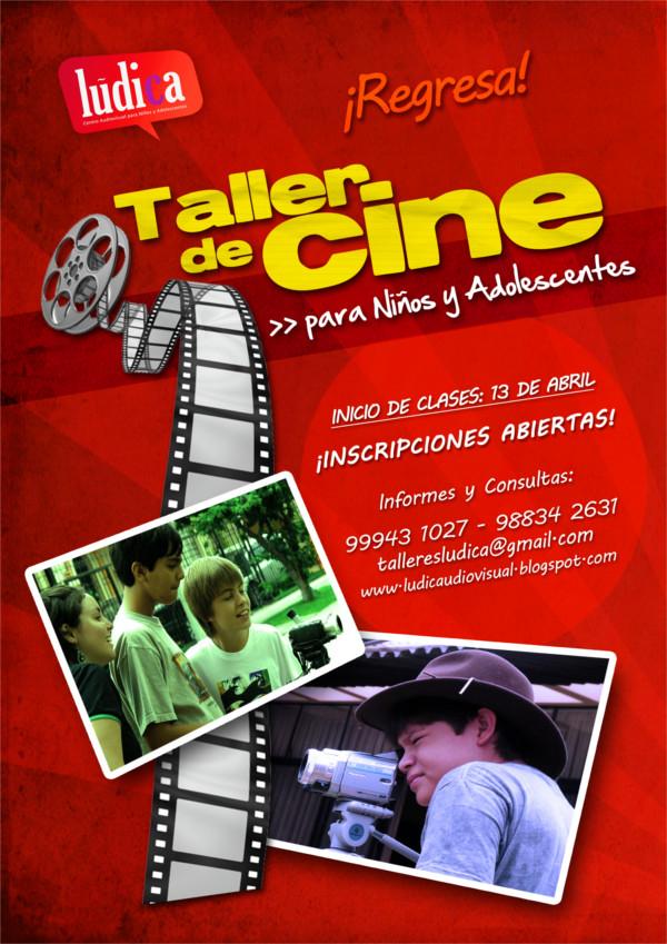 TALLER DE CINE PARA NIÑOS Y ADOLESCENTES – LUDICA