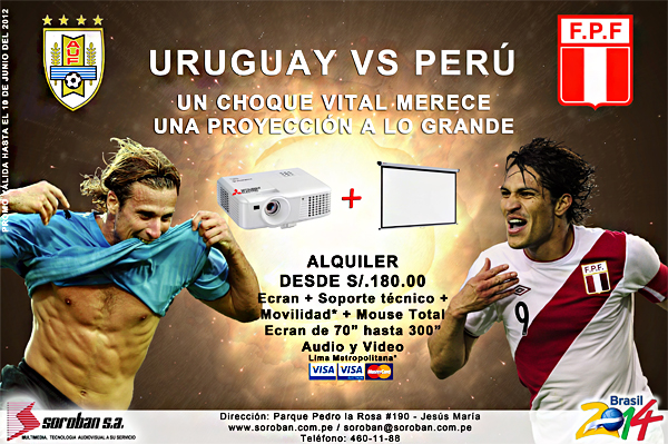 URUGUAY VS PERÚ – Un choque EXPLOSIVO merece una proyección a lo ¡GRANDE!